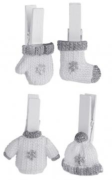 Pince hiver argent (x4) REF/5533