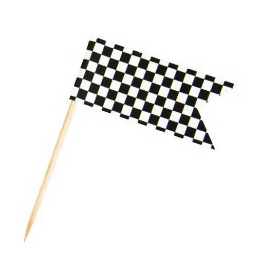 Pique drapeau damier
