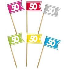 Pic drapeau anniversaire: 50ans (x6) REF/PDPM05