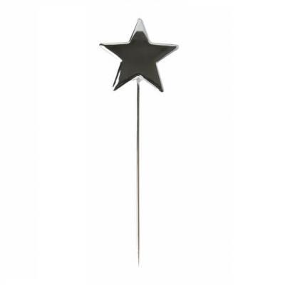 Pique étoile métallique argent (x3) REF/3861