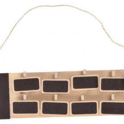 Plan de table rectangle ardoise et bois (x1) REF/3433