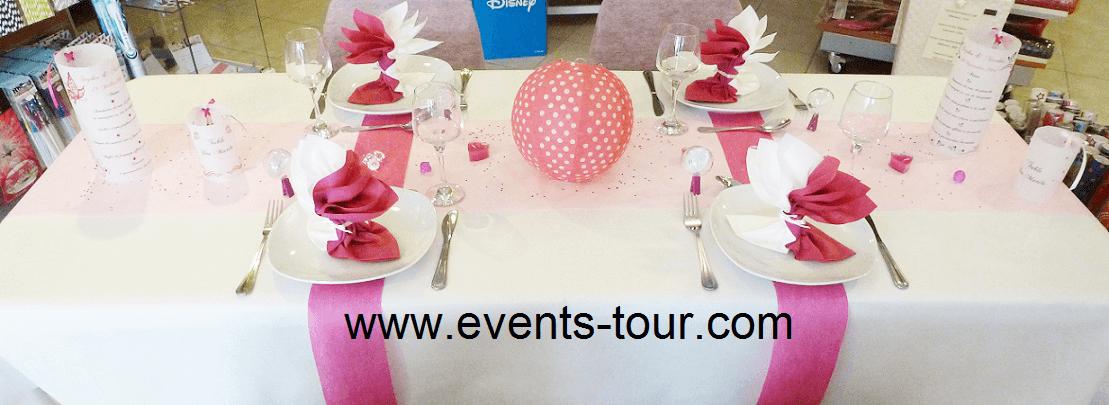 Pliage de serviette elegant airlaid rose fuchsia