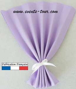 Pliage de serviette eventail parme 1