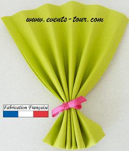 Pliage de serviette eventail vert