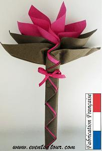Pliage de serviette fleur 2