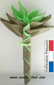 Pliage de serviette fleur 3