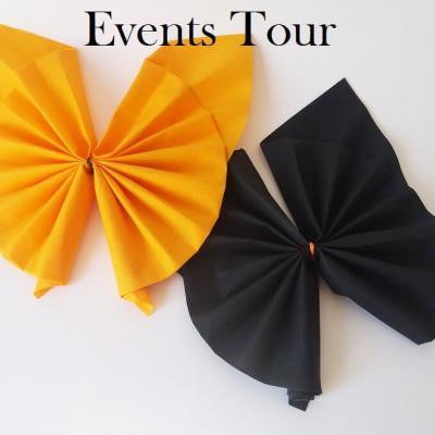 Pliage de serviette Halloween Airlaid chauve-souris (x1) REF/10056