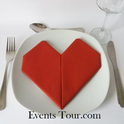 Pliage de serviette mariage coeur rouge (x1) REF/10040