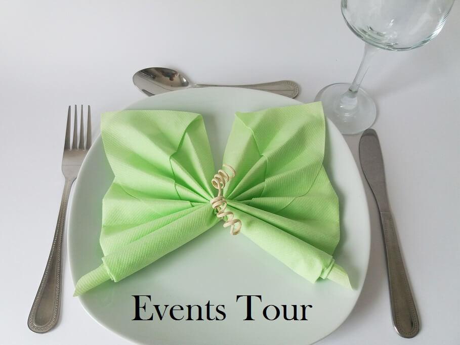 Pliage de serviette papillon vert