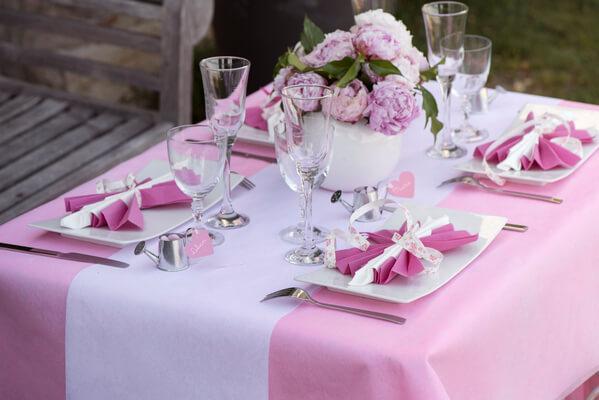 Pliage de serviette pour mariage elegant