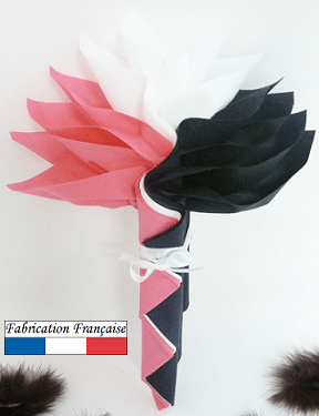 Pliage de serviette Airlaid fleur (x1) REF/10057