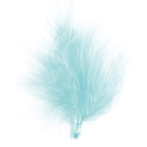 Plume decorative bleu ciel 1