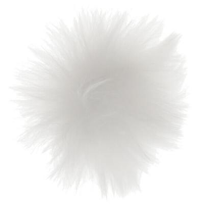 Pompon fourrure blanche (x4) REF/5363