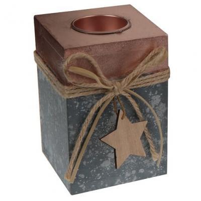 Porte-bougie étoile: Cuivre (x1) REF/5512