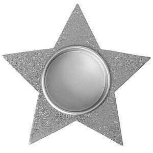 Porte-bougie étoile de noël pailletée (x1) REF/4686