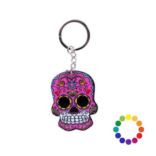 Porte clef tete de mort mexicaine
