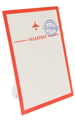 Porte menu passeport
