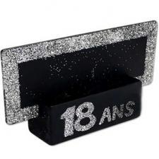 Marque-place argent anniversaire 18ans (x2) REF/MPP01