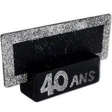 Marque-place argent anniversaire 40ans (x2) REF/MPP04