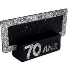 Marque-place argent anniversaire 70ans (x2) REF/MPP07