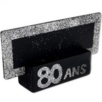 Marque-place argent anniversaire 80ans (x2) REF/MPP08