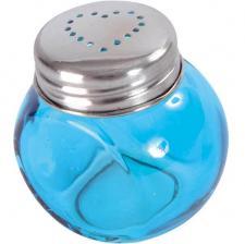 Pot rond en verre bleu turquoise (x4) REF/3635