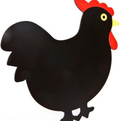 Poule ardoise noir (x1) REF/DEC702