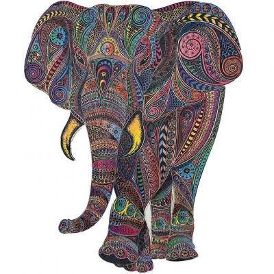 Puzzle animal en bois art créatif: Éléphant impérial de 190pcs (x1) REF/PC001