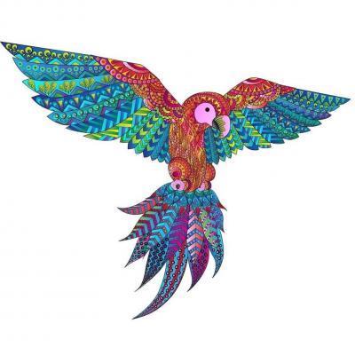 Puzzle animal en bois art créatif: L'exotique Perroquet de 127pcs (x1) REF/PC021