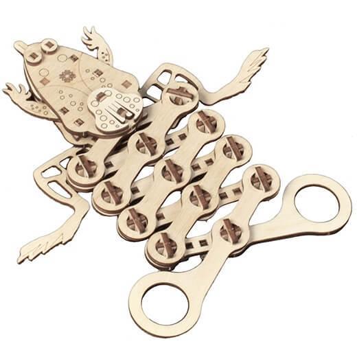Puzzle en bois 3d mr playwood grenouille
