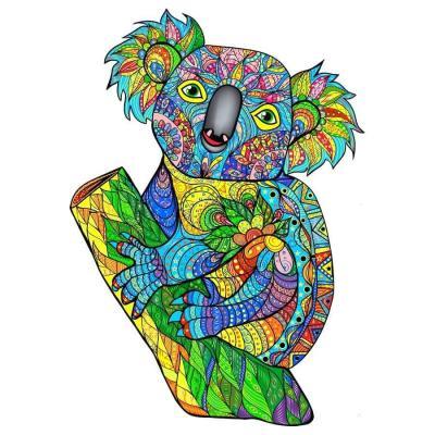 Puzzle animal en bois art créatif: l'adorable Koala de 120pcs (x1) REF/PC020