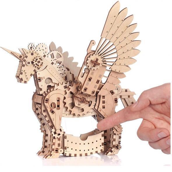 Puzzle licorne en bois