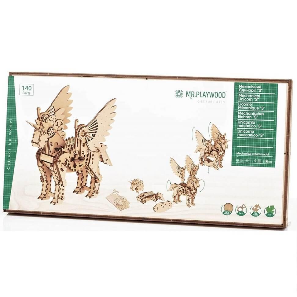 Puzzle mobile licorne en bois
