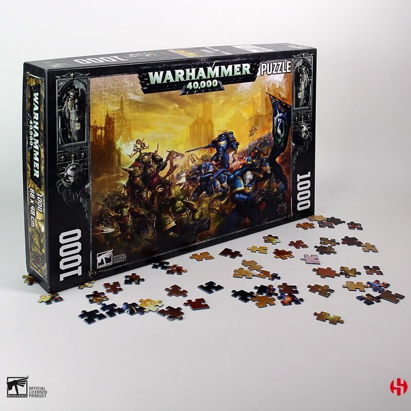 Puzzle warhammer 40k roboute guilliman vs black legion 1000 pieces