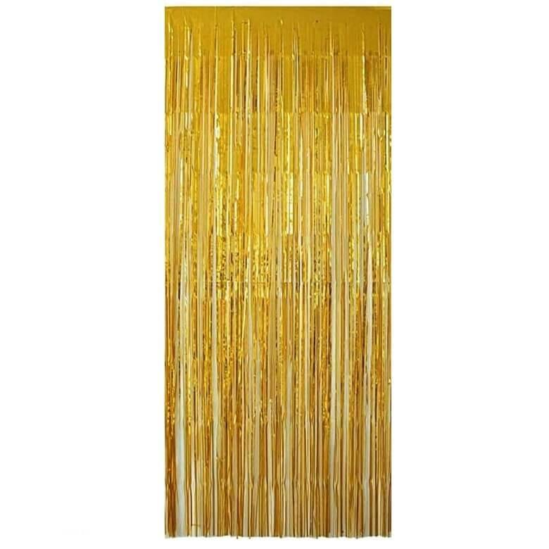 Rideau de porte dore avec franges
