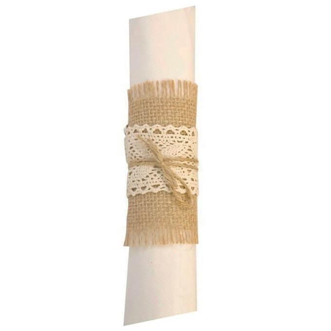 Rond de serviette en jute champetre naturel