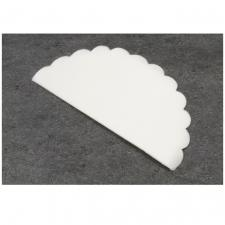 Rond intissé blanc, 24cm (x10) REF/RDU105