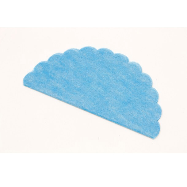 Rond intisse bleu turquoise pour dragee