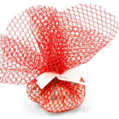 Rond tulle filet rouge (x10) REF/RDU155