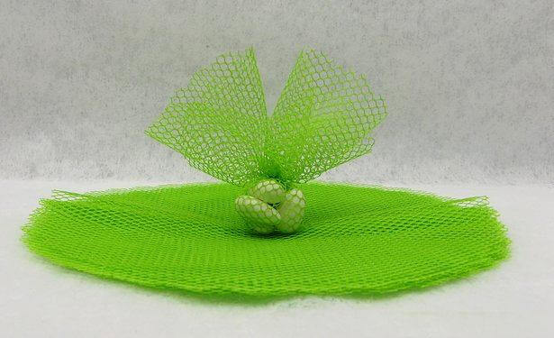 Rond tulle filet vert menthe