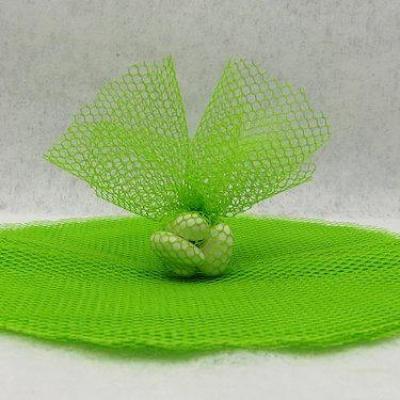 Rond tulle filet vert menthe (x10) REF/RDU155