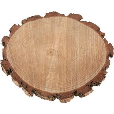 Centre de table rondin de bois naturel 23cm (x1) REF/7438