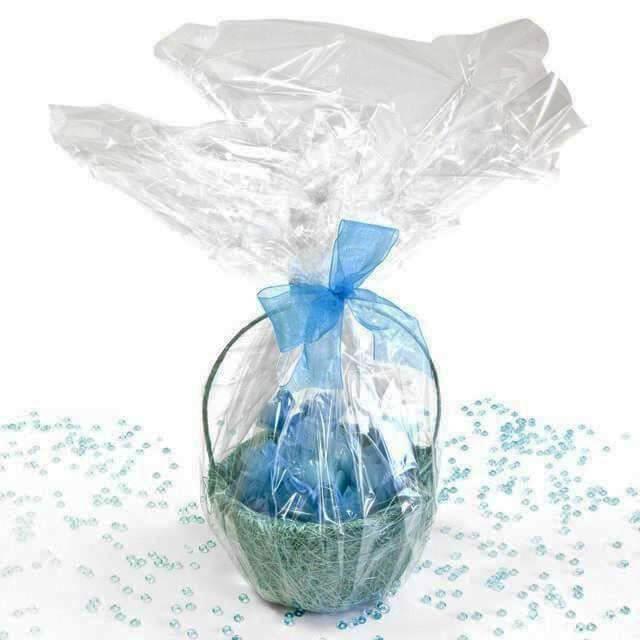 Rouleau papier cellophane de decoration transparent