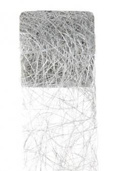 Ruban abaca argent 7cm x 5m (x1) REF/2847