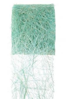 Ruban abaca bleu turquoise 7cm x 5m (x1) REF/2847