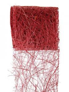 Ruban abaca bordeaux 7cm x 5m (x1) REF/2847