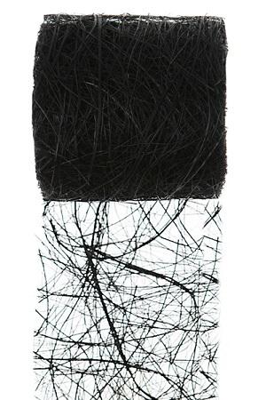 Ruban abaca noir 1