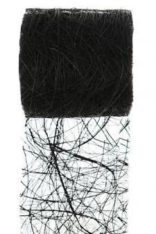 Ruban abaca noir 7cm x 5m (x1) REF/2847