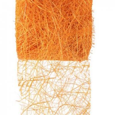 Ruban abaca orange 7cm x 5m (x1) REF/2847