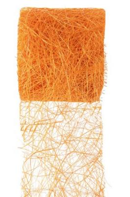 Ruban abaca orange (x1) REF/2847